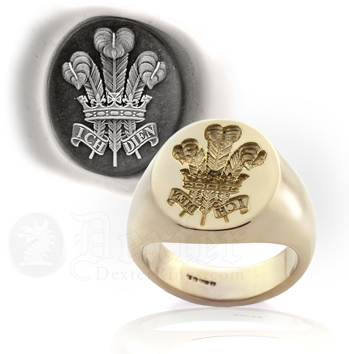 Prince of Wales Feathers Signet Ring (Prince Charles, Prince of Wales)