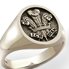 Prince of Wales Feathers Signet Ring