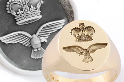 Royal Air Force Seal Ring - ANY BADGE