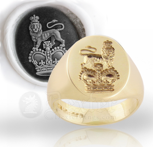 Signet Ring Seal Engraved with the Royal Crest