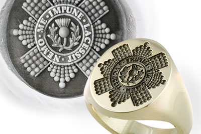 Royal Scots Grenadier Guards Seal Ring Example