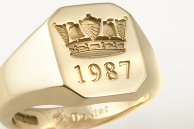 Signet With Royal Naval Crown Coronet & Date