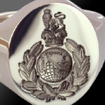 Marines Cap Badge Signet Ring