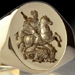 St. George Slaying The Dragon Ring