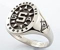 Monogramed Oval Signet Ring - Block / Elevated