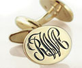 Monogramed Cufflinks - Script / Elevated