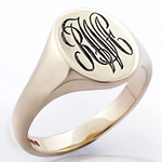 Deep for Show Engraved Monogram Signet Ring
