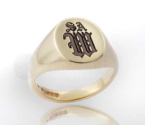 signet gold rings crested english ring silver family crest platinum yellow