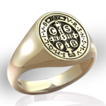 Saint Benedict Medal Ring