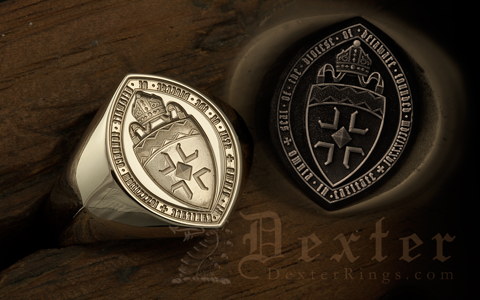 Bishop of Delaware Custom Bespoke Seal Ring