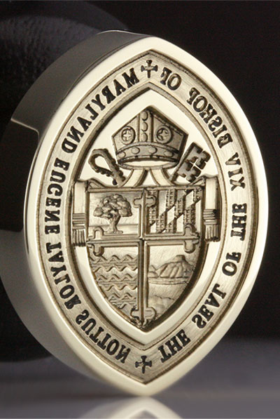 Bishop of Maryland Seal - Non Standard Shape Head ADD +£50