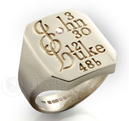 Holy Scripture Gold Signet Ring