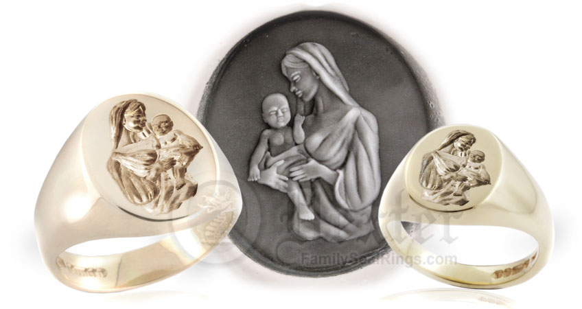 Madonna and Child Ring