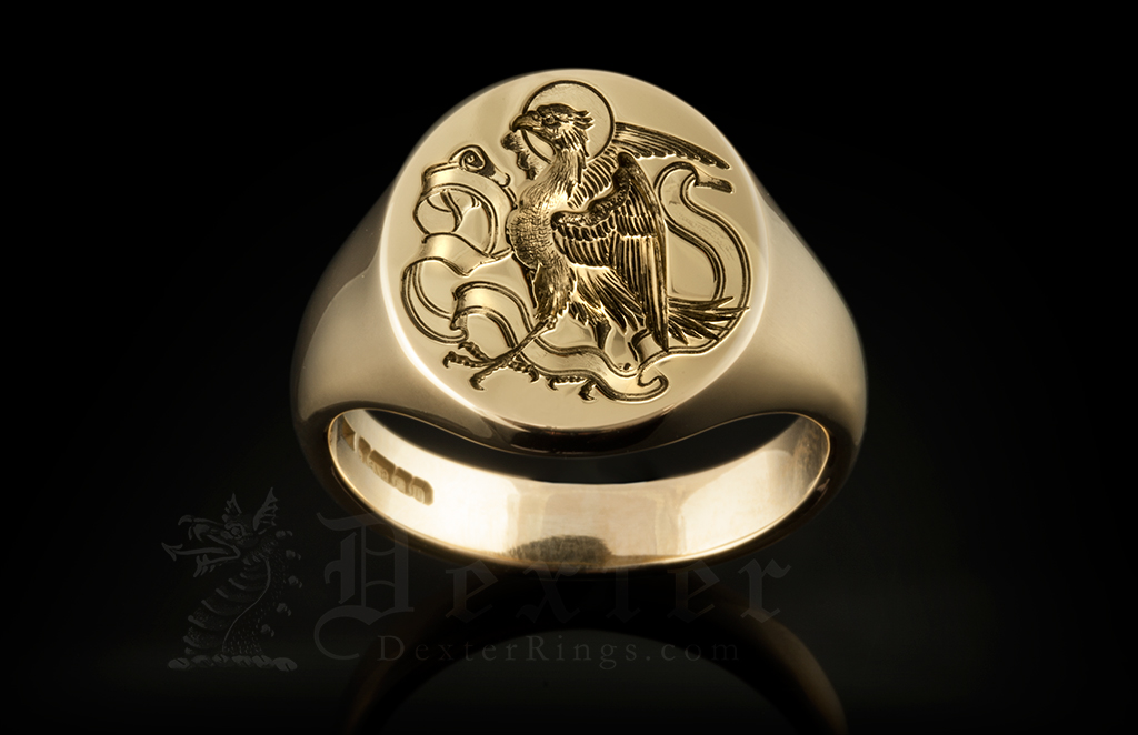 Four Evangelists Eagle St. John Signet Ring