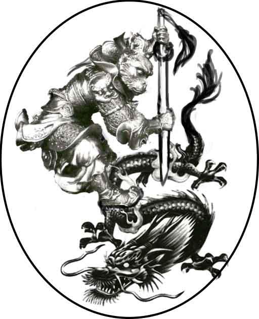 sun wukong the monkey king chinese dragon