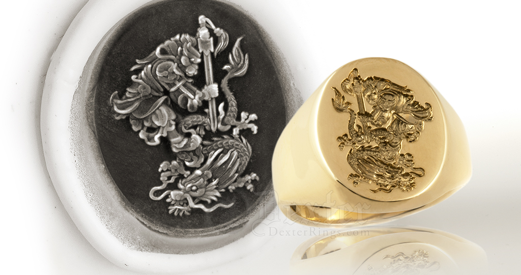 Seal Engraved Signet Rings By Dexter