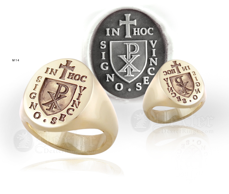 Knights Templar 'In Hoc Signo Vinces' (M14 Design) Ring