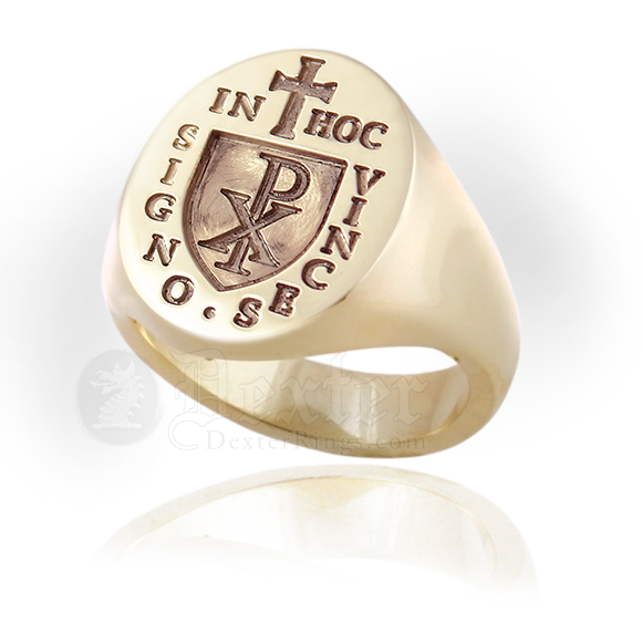 Knights Templar 'In Hoc Signo Vinces' Signet Ring