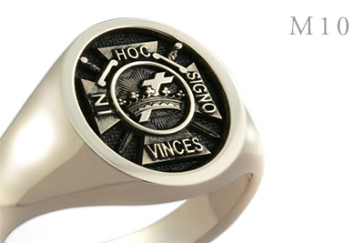 Knights Templar In Hoc Signo Vinces (M10) Elevated Style Signet Ring