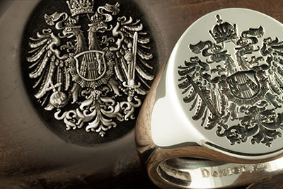 Austrian Hungary Imperial Eagle Signet Ring