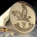 Eagle in Flight Signet Ring