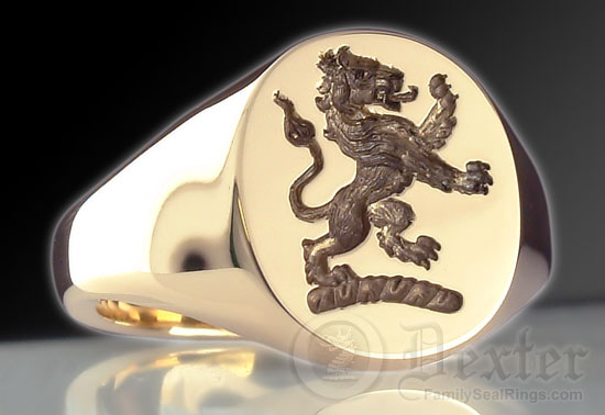 Georgian Lion Rampant Signet Ring