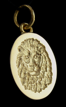 Signet Ring Featuring An Lion Stylised
