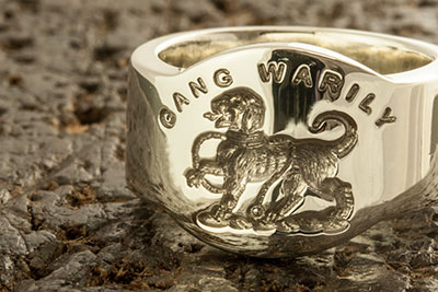 Gang Warily Clan Crest Cigar Band Ring