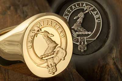 Seal Engraved Signet - Clan Badge Designed by Client