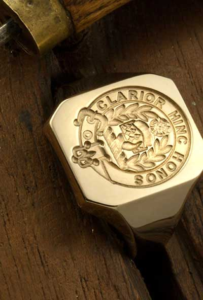 Clan Buchanan Octagonal Signet Ring Engraved For Show