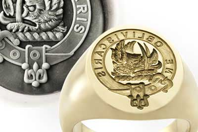 Clan Campbell Badge Gold Signet Ring
