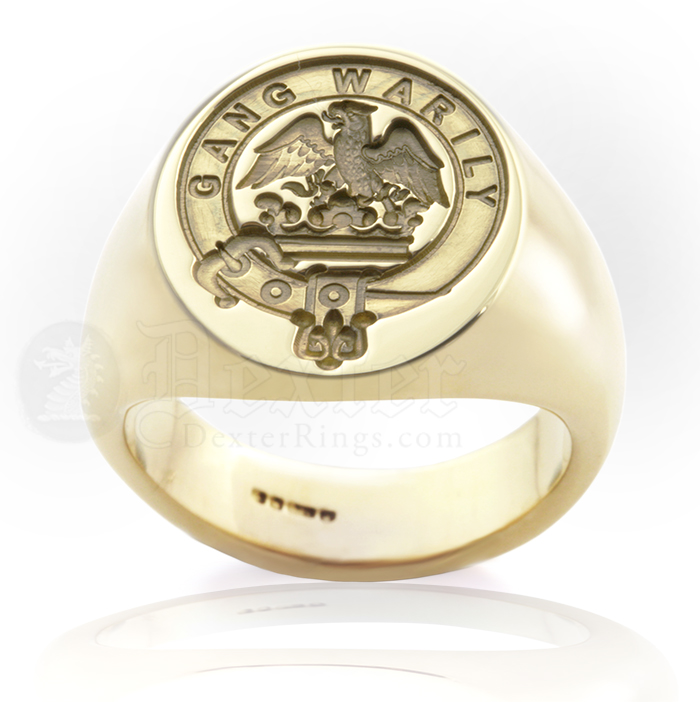 Deep for Show Engraved Example: Clan Drummond Ring