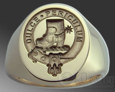 Clan Macaulay Ring Engraved For Show