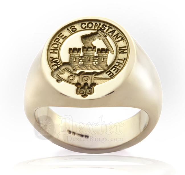 Signet Ring Engraved with McDonald of Clanranald Clan Badge