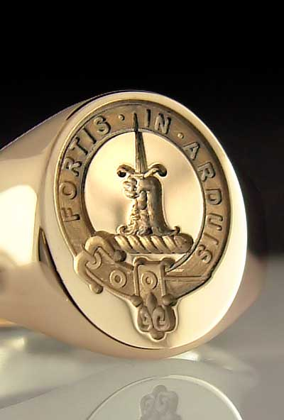 Clan McDowell Seal Ring in Gold