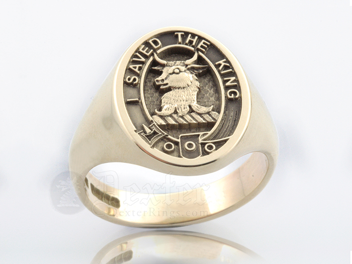 Signet Ring Engraved with Turnbull Clan Badge