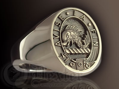 Clan Kennedy Elevated Engraved Signet Ring
