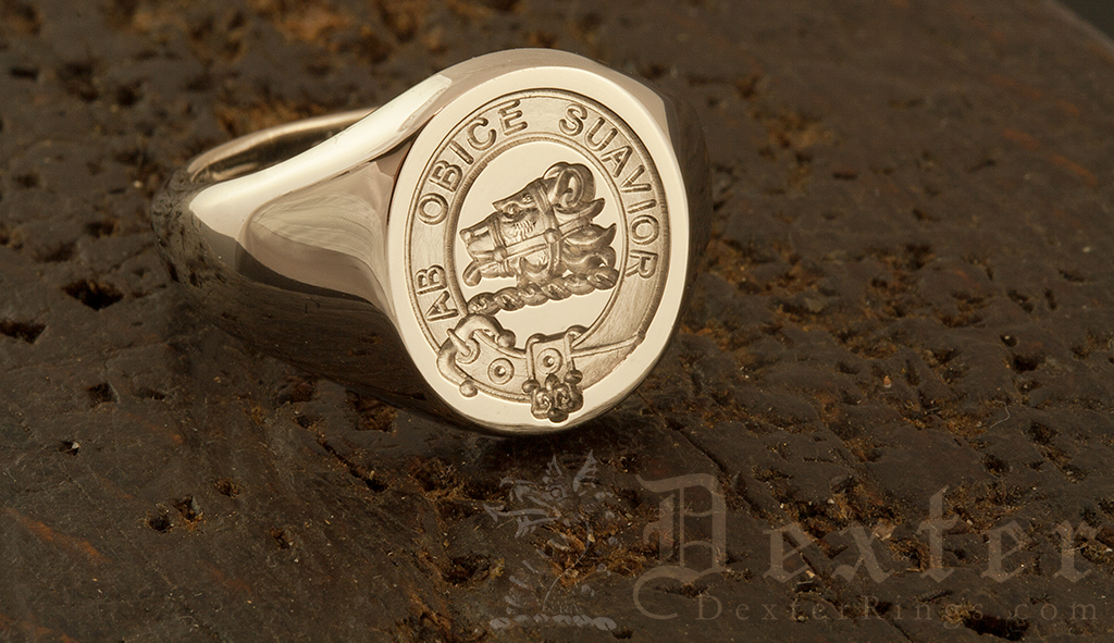 Galbraith Clan Gold Signet Ring Engraved 'for show'