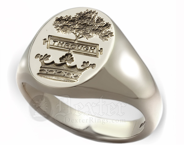 Signet Ring Engraved with Hamilton Clan Crest