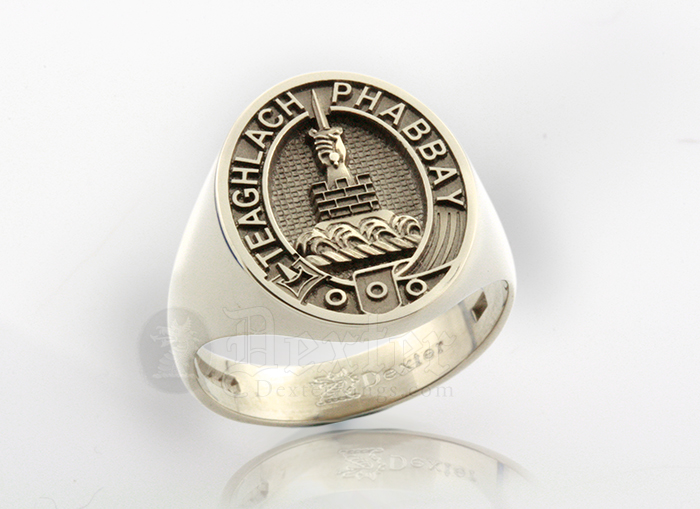 Signet Ring Engraved with Morrison Clan Badge