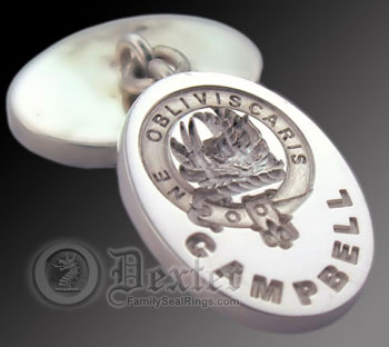 Clan Campbell Cufflinks Engraved for Show