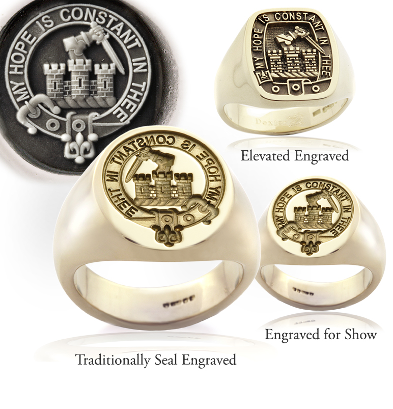 MacDonald of Clanranald clan ring engraving examples