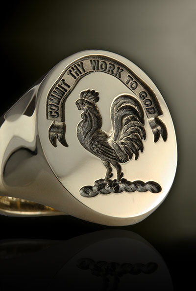 Clan Sinclair Signet Ring Engraved For Show