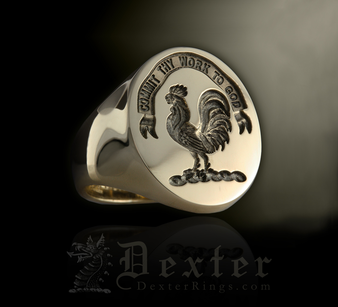 Signet Ring Engraved with Sinclair Clan Badge