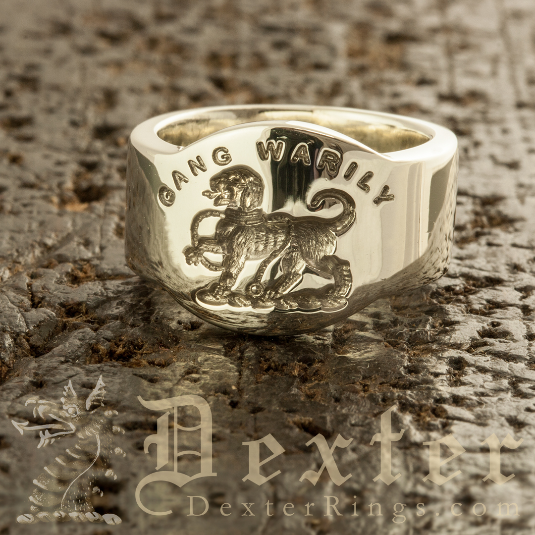 Gang Warily Crest Cigar Band Ring