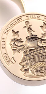 Ornate Coat of Arms - Seal Engraved on a Desk Seal