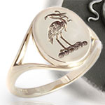 Ladies Signet Ring Design - Can be Set with a Gemstone
