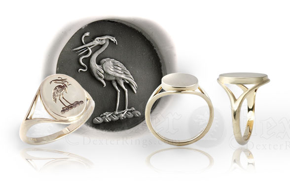 'Elegance' Ladies Signet Ring Design