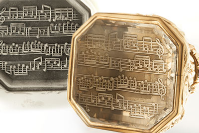 Engraved Musical Score Notes Clients Own Seal