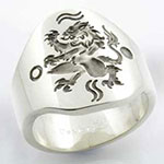 Cigar Band Style - Gothic Rampant Lion